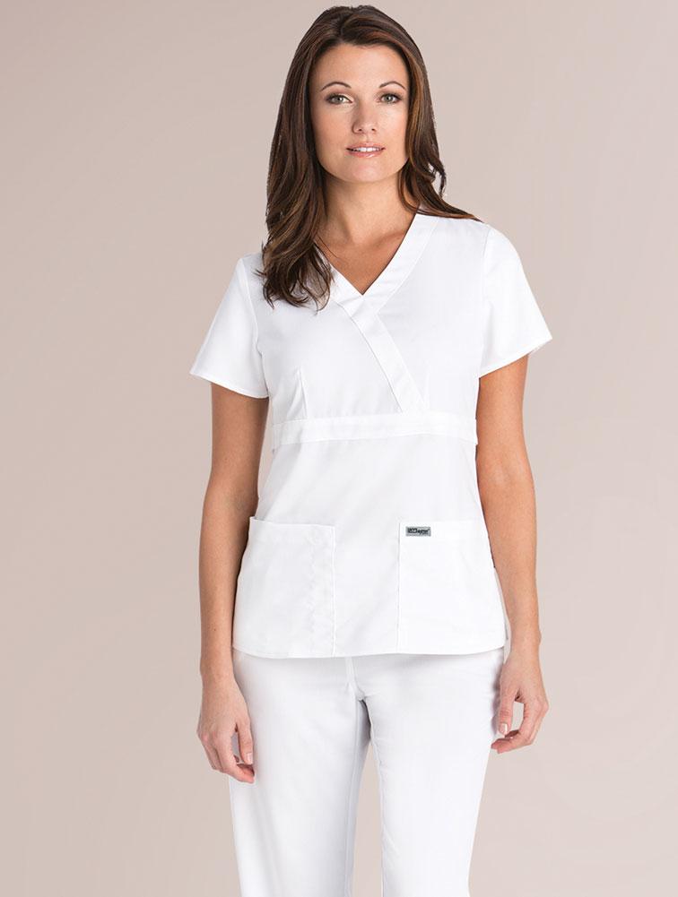 Greys Anatomy 3 Pocket Mock Wrap Top Classic Greys Anatomy