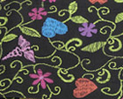 Floral Stitch Black