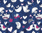 Love Birds Navy