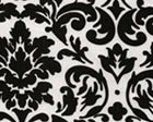 White & Black Damask