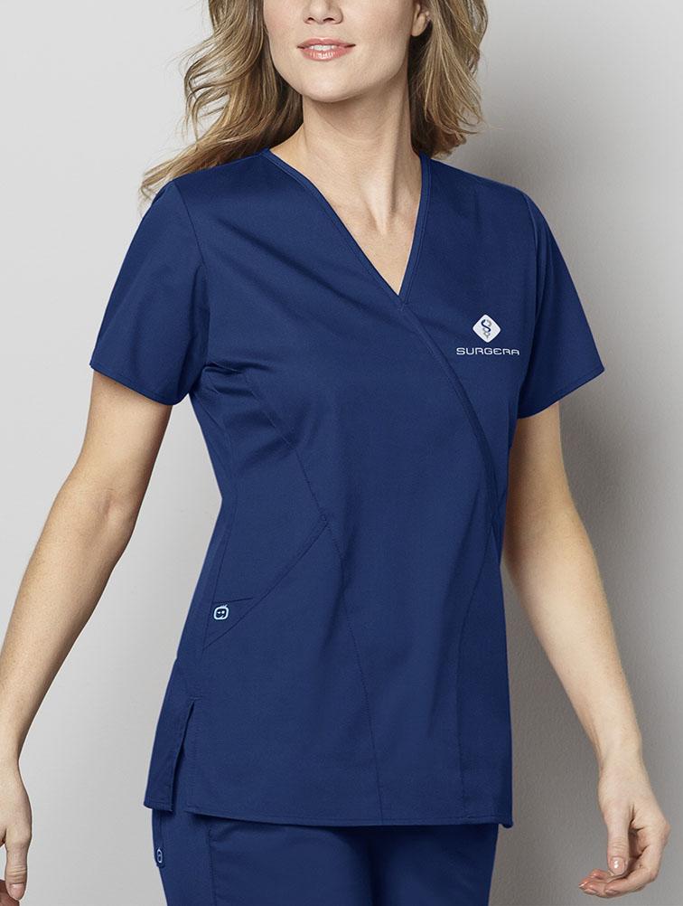 WonderWORK Mock Wrap Top - Nurses Top
