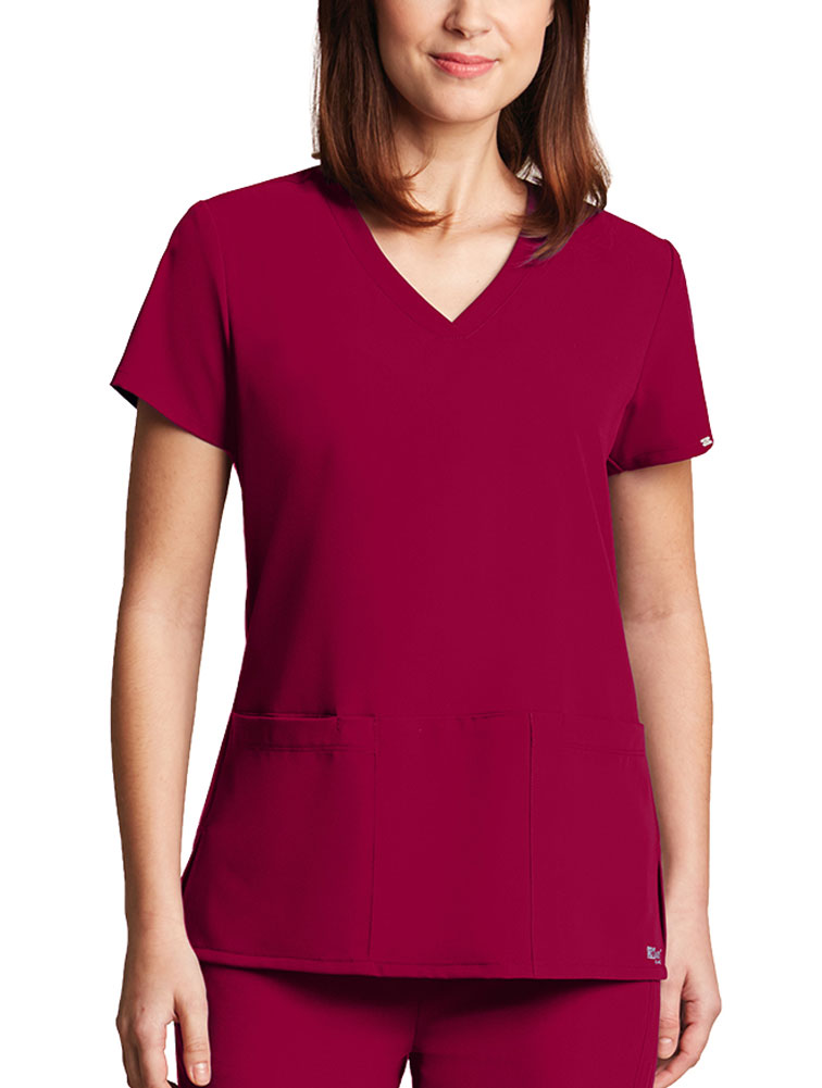 'Grey's Anatomy Signature' Rounded V-Neck Top