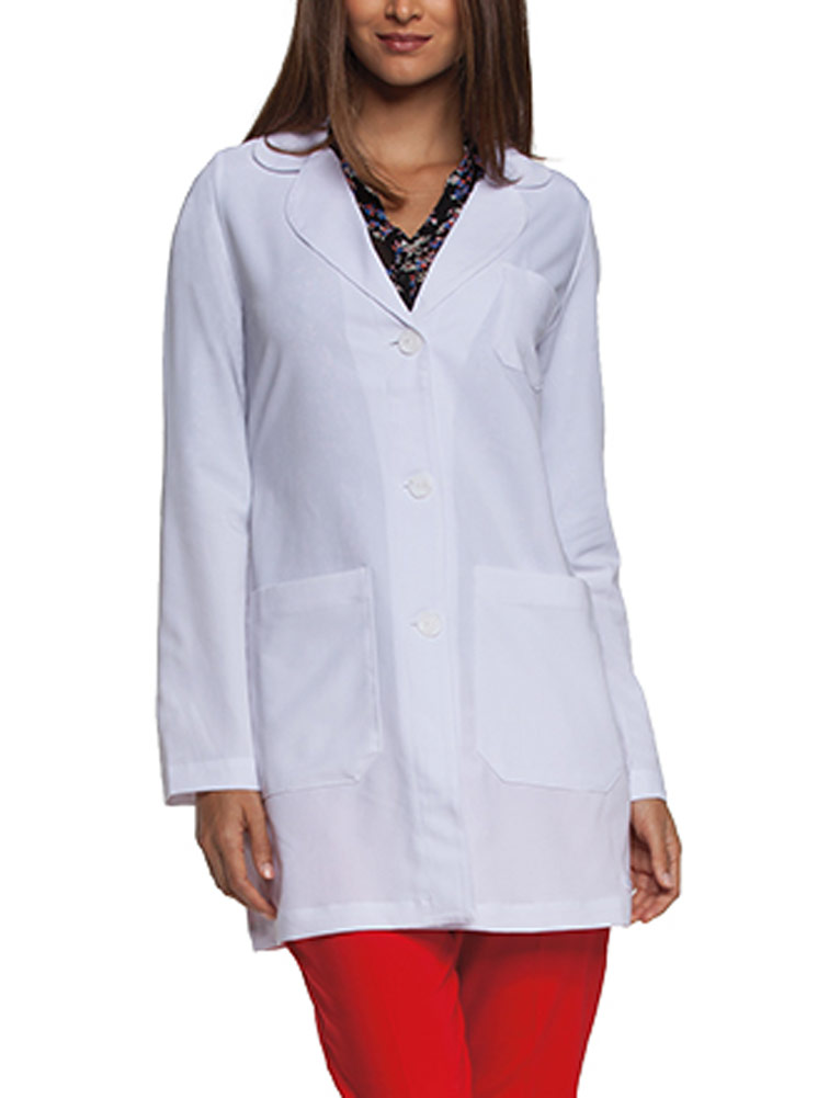'Grey's Anatomy Signature' Round Neck Notch Collar Lab Coat