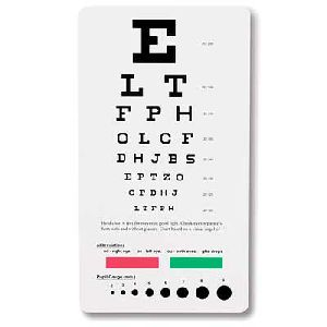 snellen pocket eye chart eye