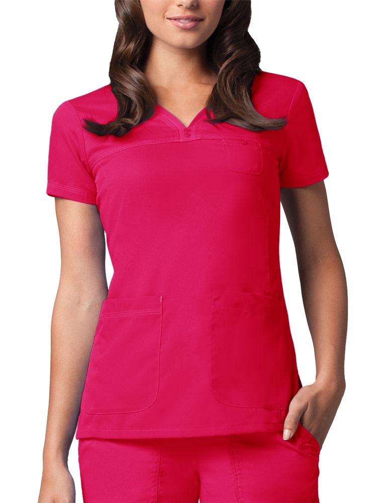 Grey's Anatomy™ 3-Pocket V-Neck Tonal Stitch Scrub Top