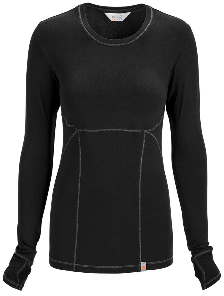 Long Sleeve Knit Tee w/ Antimicrobial