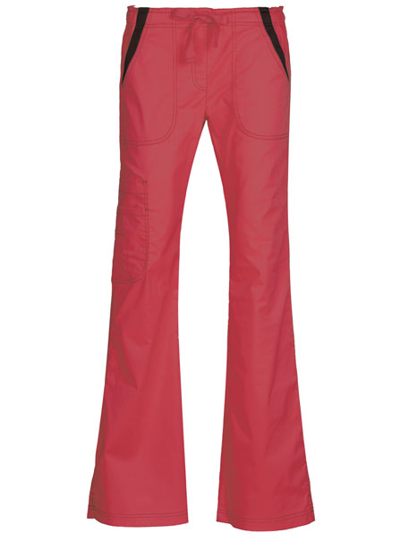 Multi Pocket Fashion Flare Pant with Contrast