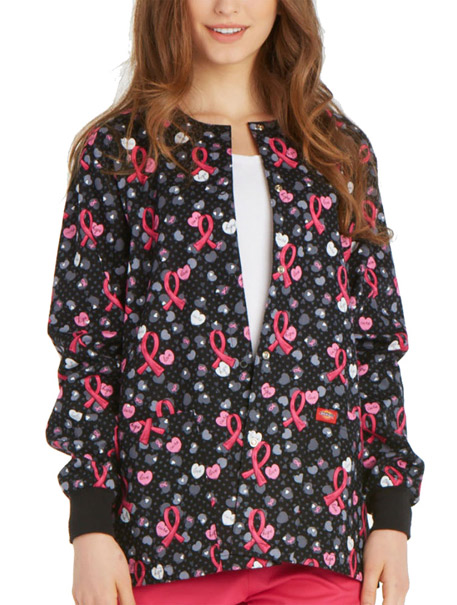 Snap Front Warm-Up Print Jacket