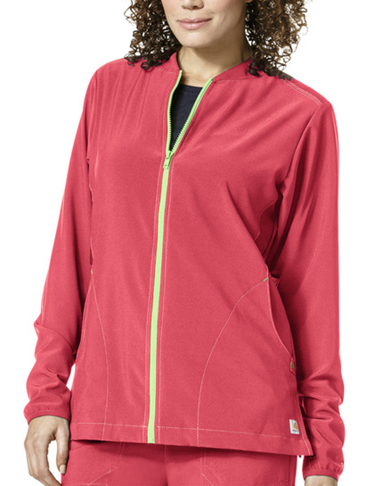 Cross-Flex Women's Knit Mix Zip Front Jacket