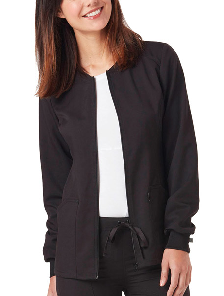 Zip Front Warm-Up Jacket w/ Antimicrobial