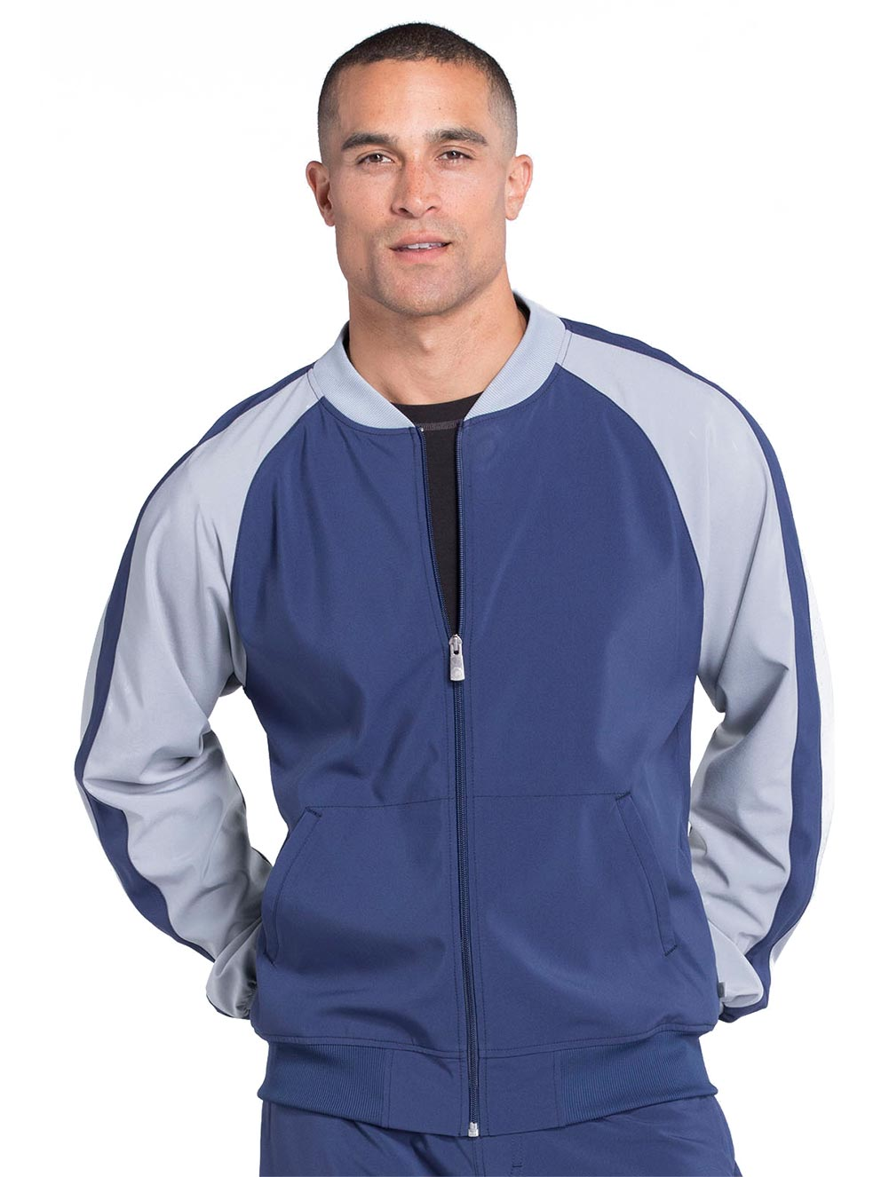 Men's Colorblock Zip Up Warm-Up Jacket