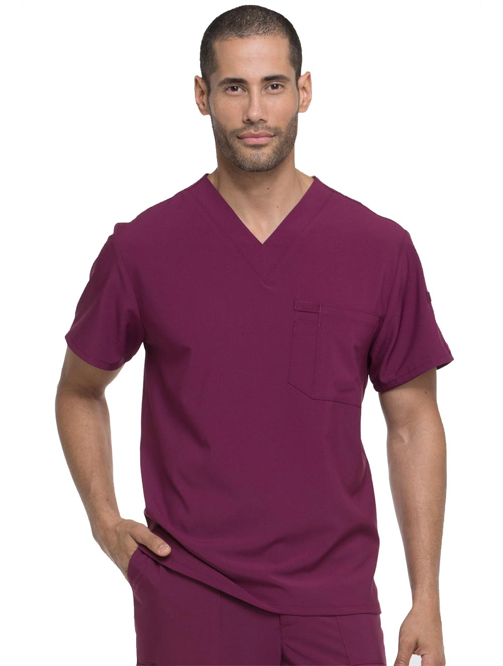 Men's V-Neck Top w/ Chest Pocket