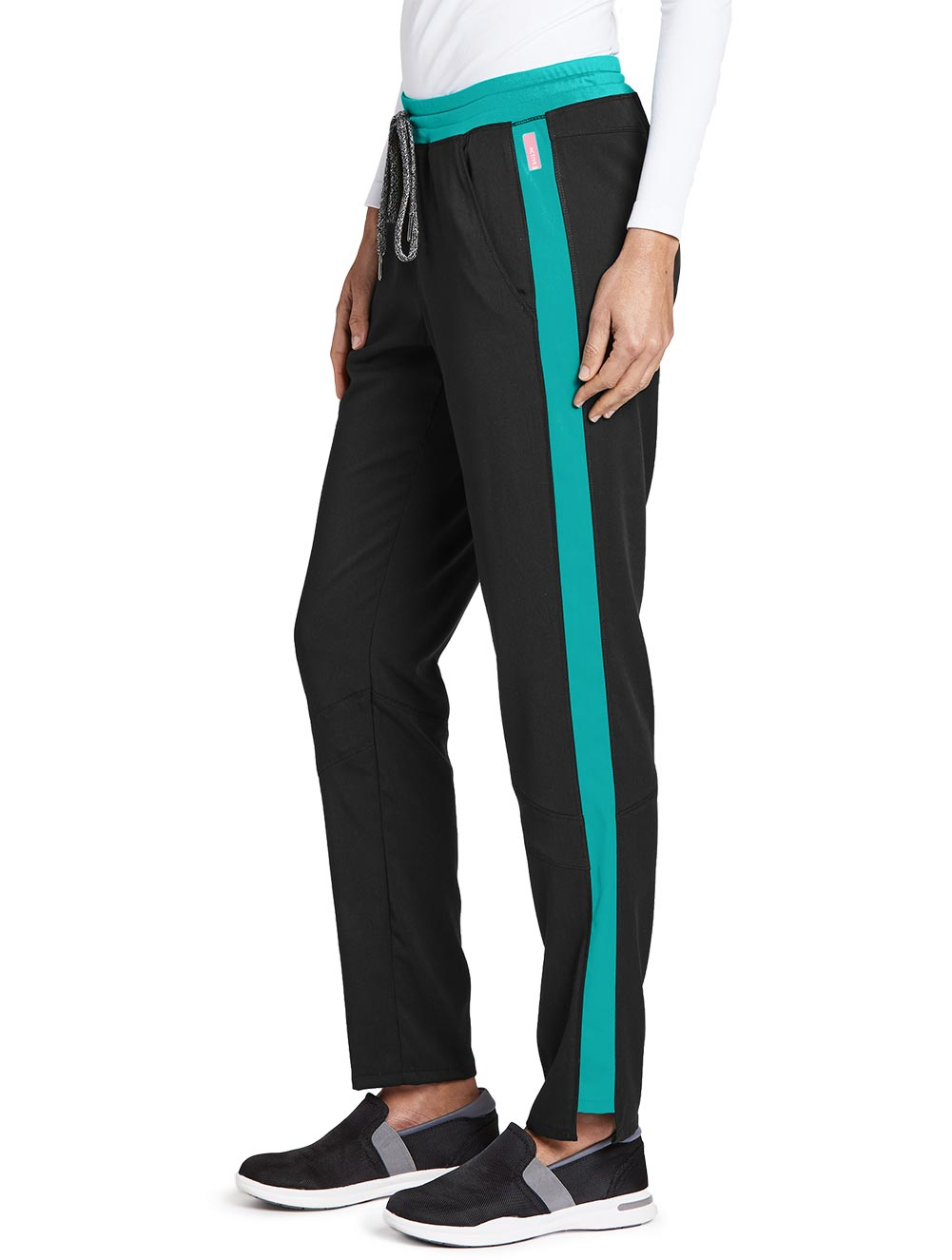 'Grey's Anatomy Spandex Stretch' Color Block Cargo Pant