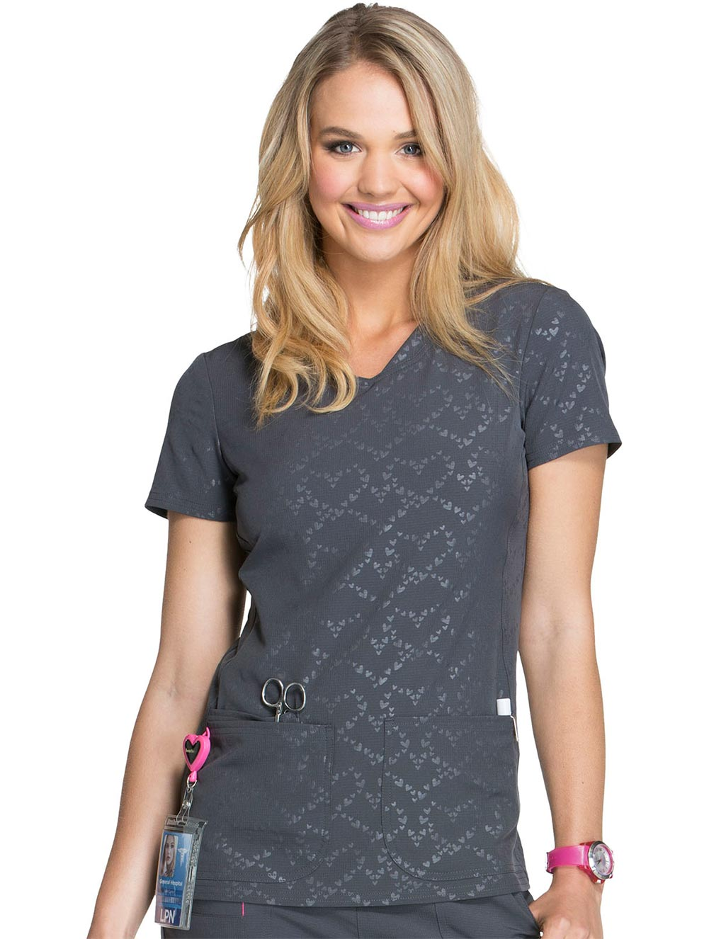 Beat of My Heart V-Neck Top
