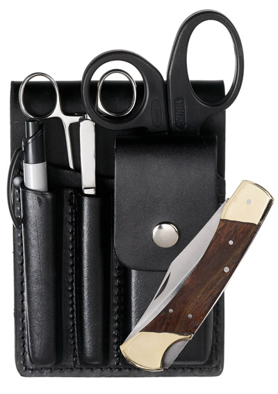 Square Paddle Leather Holster Set