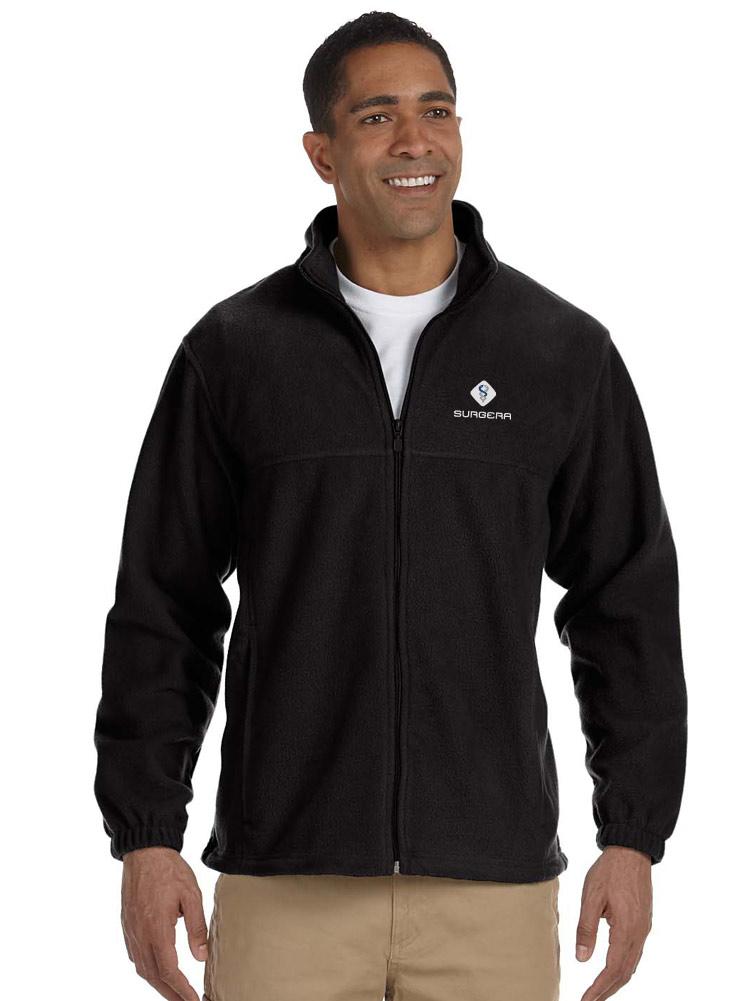 Men's 8 oz. Full-Zip Fleece w/ Logo Embroidery