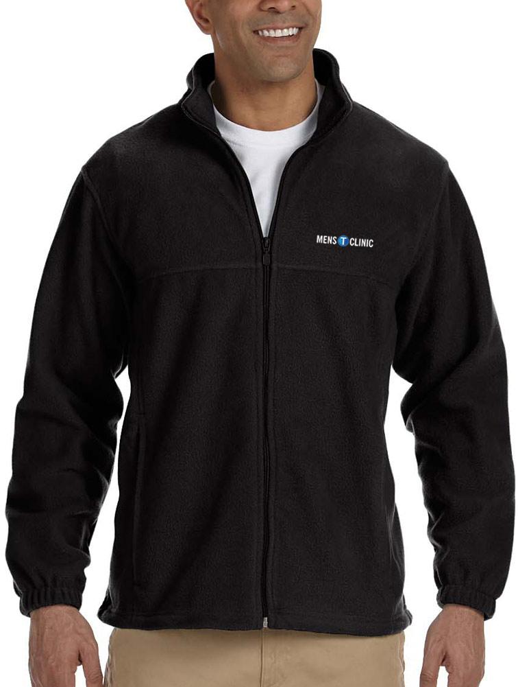 Men's Full-Zip Fleece Jacket w/ Logo Embroidery