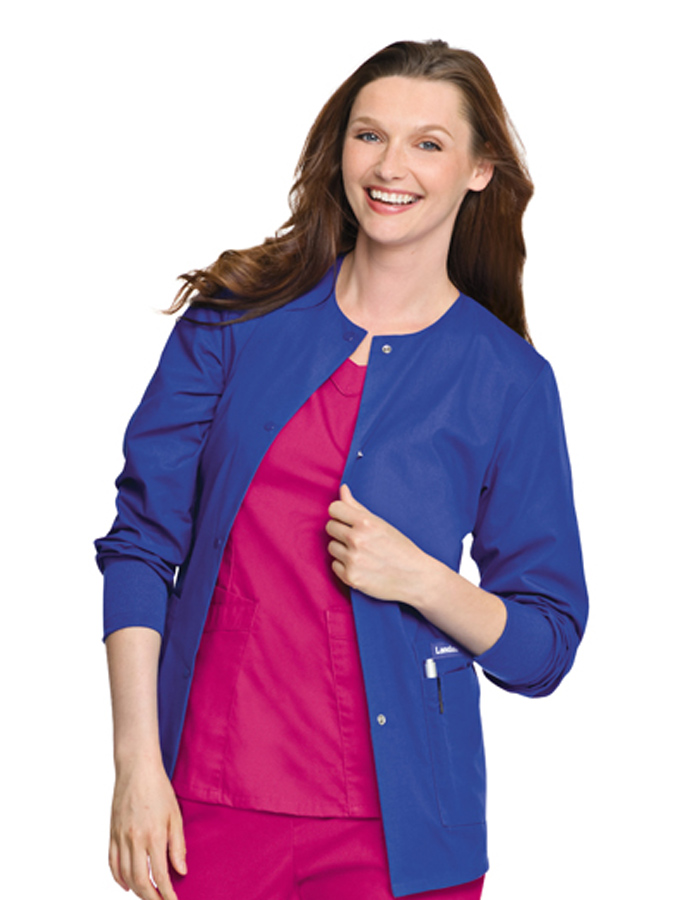 Landau Women's Warm-Up Jacket Scrub Jacket - 7525