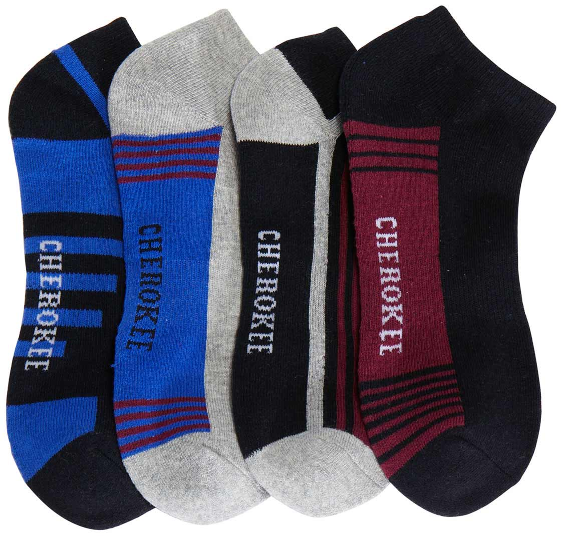 Men's No Show Sock (4 Pack, Assorted)