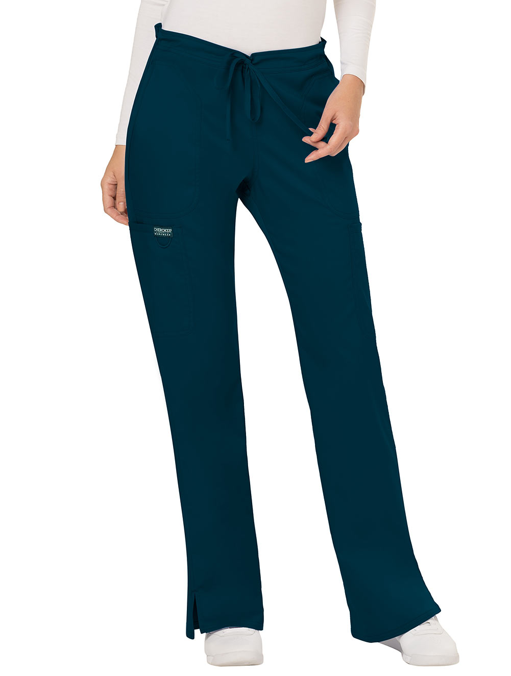 Mid-Rise Moderate Flare Drawstring Pant