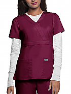 Grey's Anatomy™ 3-Pocket Mock Wrap Top