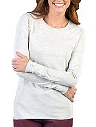 Med Couture Long Sleeve Tee Shirt 'Heather Oatmeal' Large