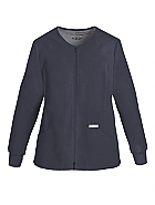 Zip Front Knit Panel Warm-Up Jacket