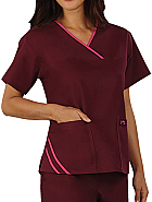 Melissa Top 'Wine w/ Raspberry' X-Large