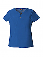 Jr. Fit Notched Round Neck Top