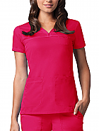 Grey's Anatomy™ 3-Pocket V-Neck Tonal Stitch Scrub Top
