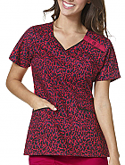 WonderFLEX A-Line Fit V-Neck Print Top