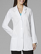 WonderLAB Women's Curve Detail Fashion Lab Coat