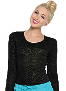 """After Your Heart"" Long Sleeve Knit Tee"