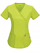 Mock Wrap Top w/ Antimicrobial + Fluid Barrier