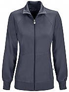 'Infinity' Zip Front Warm-up Jacket w/ Antimicrobial