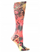 'Leopard & Roses' Fashion Compression Sock 8-15 mmHg
