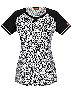 Jr. Fit Round Neck Print Top