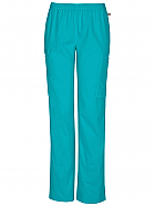 Mid-Rise Elastic Waist Utility Pant w/ Antimicrobial