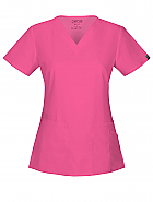 V-Neck Top w/ Antimicrobial