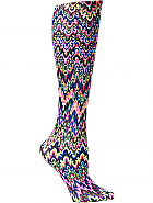 'Blue Fleur Missoni' Fashion Compression Sock 8-15 mmHg
