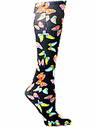 'Black Butterflies' Fashion Compression Sock 8-15 mmHg
