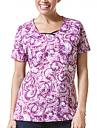 Curve-Centric Fashion Print Top