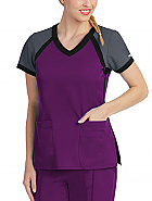 'Grey's Anatomy Active' Color Block V-Neck Top