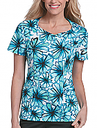 Crossover Sweetheart Print Top