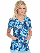 'Barco One' V-Neck Print Top