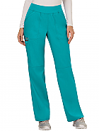 Mid-Rise Straight Leg Pull-On Pant