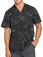 'Dynamix' Men's V-Neck Top in Distress Colorways