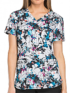 'Dynamix' Artistic Ambition V-Neck Print Top