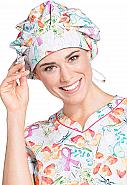Unisex Bouffant Print Scrub Hat