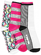 Women's Shapes-n-Stripes Crew Socks (3 Pair Assortment)